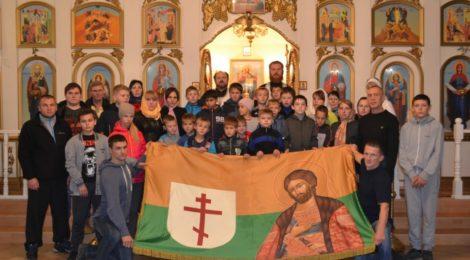 В Покровском храме в Городище освятили знамя спортивной школы «Витязь»