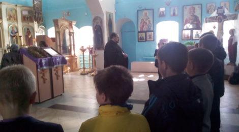 Учащиеся г. Городище пришли на экскурсию в храм