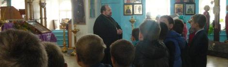 иерей Александр Рысин встретился со школьниками средней общеобразовательной школы №1 г. Городище
