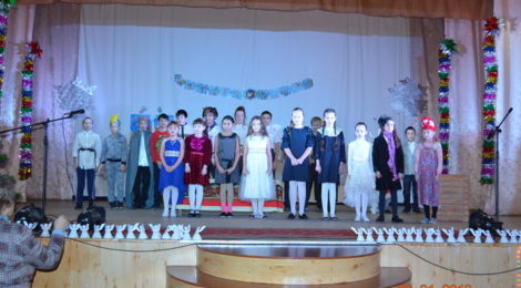Воспитанники Воскресной школы Покровского храма города Городище провели праздничный концерт «Рождество Христово».
