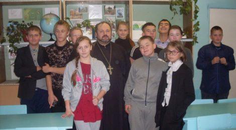 Отец Александр Рысин посетил с пастырским визитом школу с. Русский Ишим