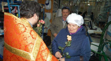 В Покровской церкви г. Городище состоялось праздничное богослужение, посвященное дню жен-мироносиц