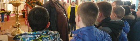 Городищенские школьники посетили Покровский храм г. Городище